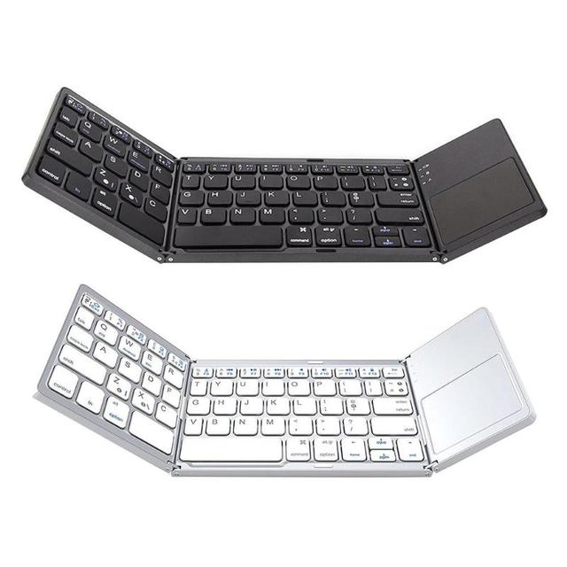 d9718ac9182 Bluetooth Keyboard Universal Folding Wireless Bluetooth 3.0 Ultra Mini Keyboard  Touch Pad Mouse for iOS Android Microsoft