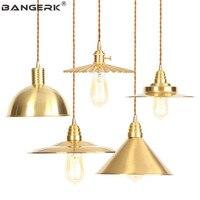 American Brass Vintage Pendant Light LED Edison Industrial Decor Loft Dining Room Antique Hanging Lamp Home Lighting Fixtures