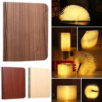 Wood Turning Books Nightlight USB Rechargeable LED Folding Lamp Book Creative Ffashion Gift Table Lamp