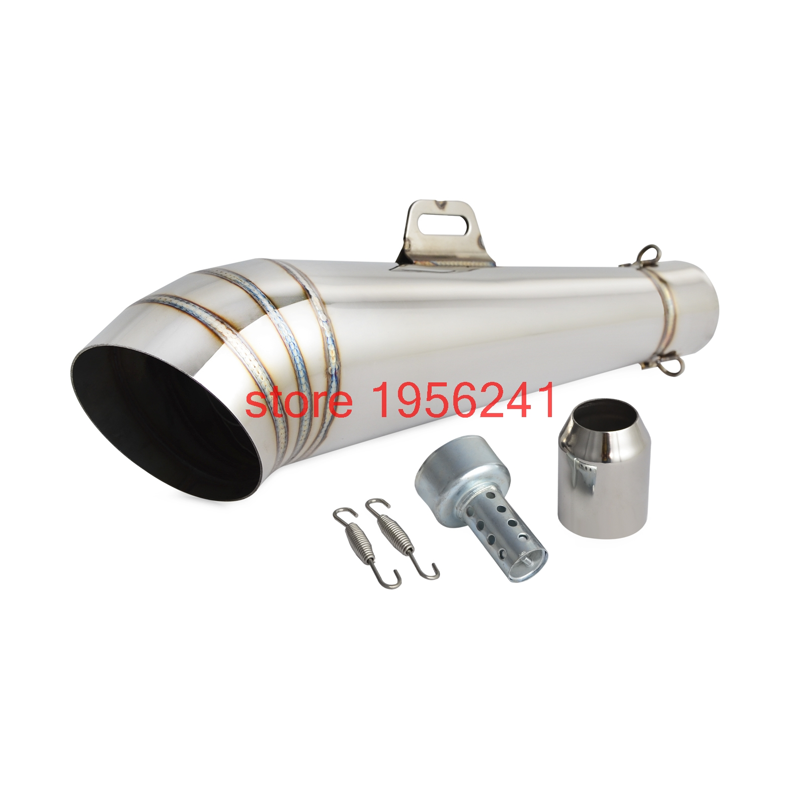 Mooreaxe Motorcycle Exhaust Muffler With Removable DB Killer Dirt Bike Street Bike Scooter ATV Tail Pipe