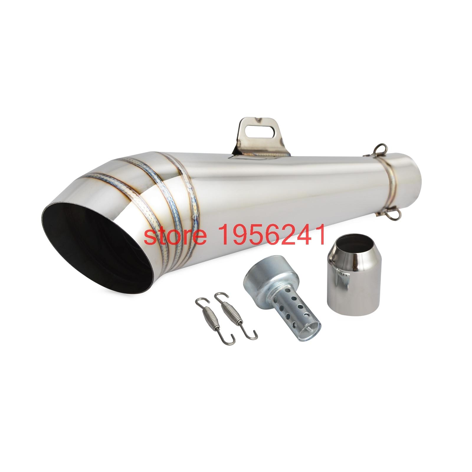 38-51 MM GP tubo de Escape Silenciador Em Aço Inoxidável Tubo Universal Para Yamaha Kawasaki KTM 125 250 Supermoto ATV GY6 Moto de Rua