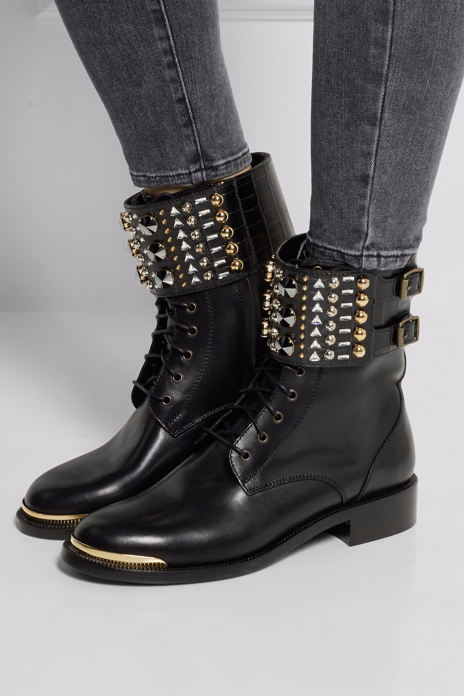 Women Low Heel Ankle Booties Lace up Studs Combat Boots Ladies Round Toe Block Heel Autumn Fall Winter Flat Shoes Plus Size beango fashion metal toe rivets women boots lace up round toe low heel motorcycle booties casual shoes woman big size 34 43eu