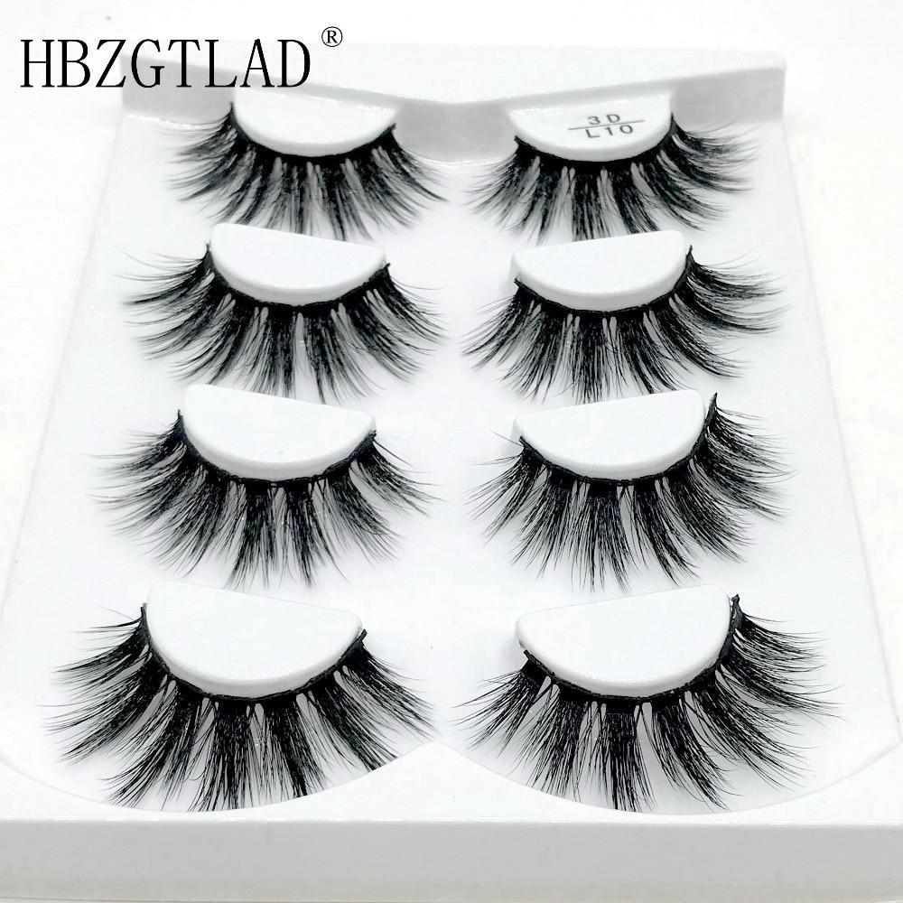 fd8488c62f0 HBZGTLAD 4 pairs natural false eyelashes fake lashes long makeup 3d mink  lashes eyelash extension mink eyelashes for beauty ~ Free Delivery July 2019