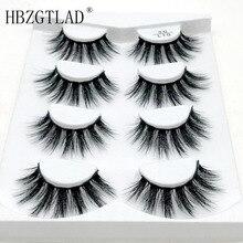 US $0.64 20% OFF|HBZGTLAD 1/4 pairs natural false eyelashes fake lashes long makeup 3d mink lashes eyelash extension mink eyelashes for beauty -in False Eyelashes from Beauty & Health on Aliexpress.com | Alibaba Group
