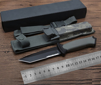 AUS8 tanto blade ABS Sheath + Camouflage Nylon Cover knife Tactical EDC Tool outdoor camping survival exploration pocket knife