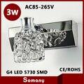 Hot 1 aço inoxidável cabeça de cristal abajur G4 Led lâmpada de cristal moderna para banheiro AC85-265V