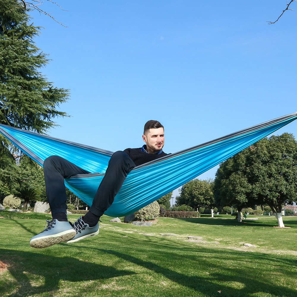 Outdoor King Size Camping Hammock Large 2 Person Parachute Double Portable Couple Nylon Hamak Travel Hunting Survival