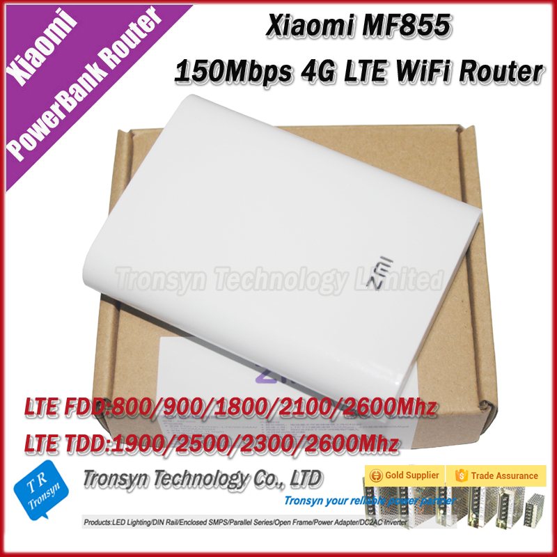 New Arrival Original 150Mbps Xiaomi 7800mAh 4G LTE Power Bank WiFi Router MF855 Support TDD And FDD Network Band