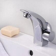 Мердека Меди на Одно Отверстие Меди Смеситель для раковины Хромированная Горячая и Холодная вода Управления Ванной Кран