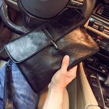 Новое поступление 2020, мужская сумка конверт из искусственной кожи, вместительный мужской клатч, кожаная сумка для бизнеса/вечерние, бесплатная доставка