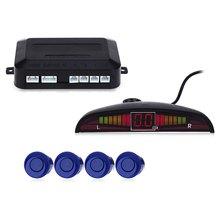 set Sensors Car Parking Radar Monitor Detector System Reverse Backup LED Parking Sensor Car Auto Parktronic Backlight Display