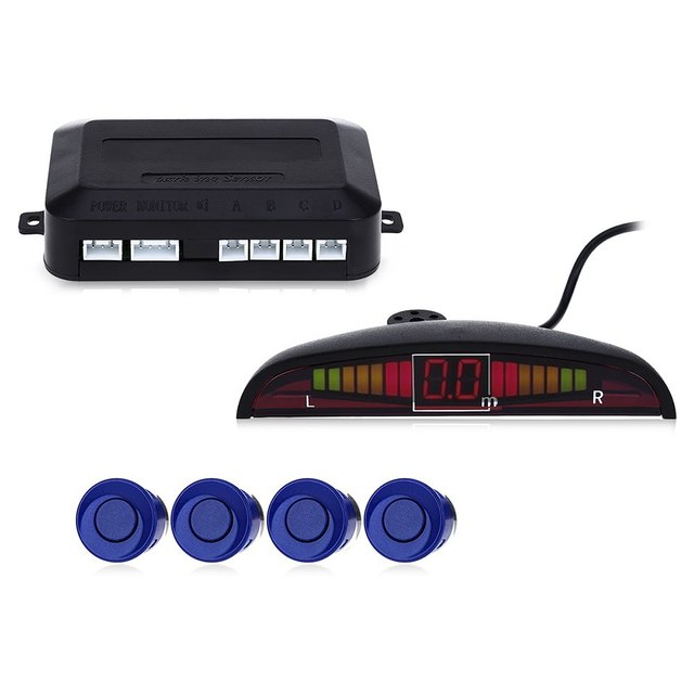 set Sensors Car Parking Radar Monitor Detector System Reverse Backup LED Parking Sensor Car Auto Parktronic Backlight Display