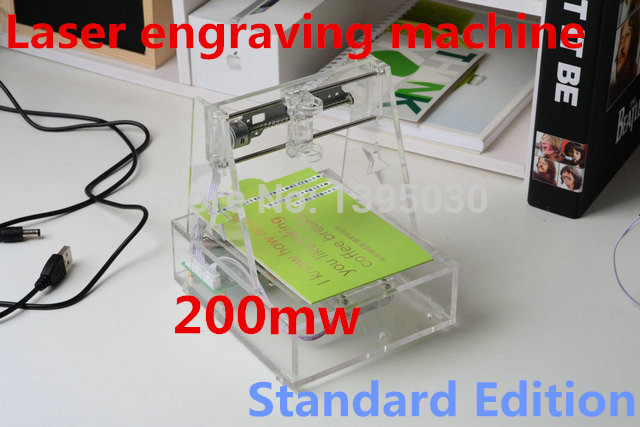 Laser engraving machine, micro engraved 7*7CM Automatic carving The blue violet 200mw for 1pcs цена и фото