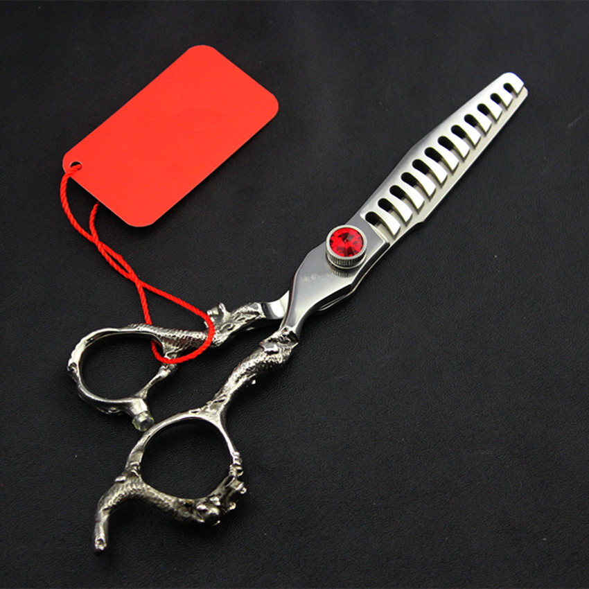 Top grade Germany 440c 6 amp 5 5 39 39 dragon cut hair scissors thinning clipper scissor barber cutting shears hairdressing scissors in Hair Scissors from Beauty amp Health