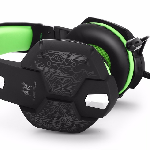 Computer Stereo Gaming Headphones Kotion EACH G100 Best casque Deep Bass Game Earphone Headset with Mic LED Light for PC Gamer