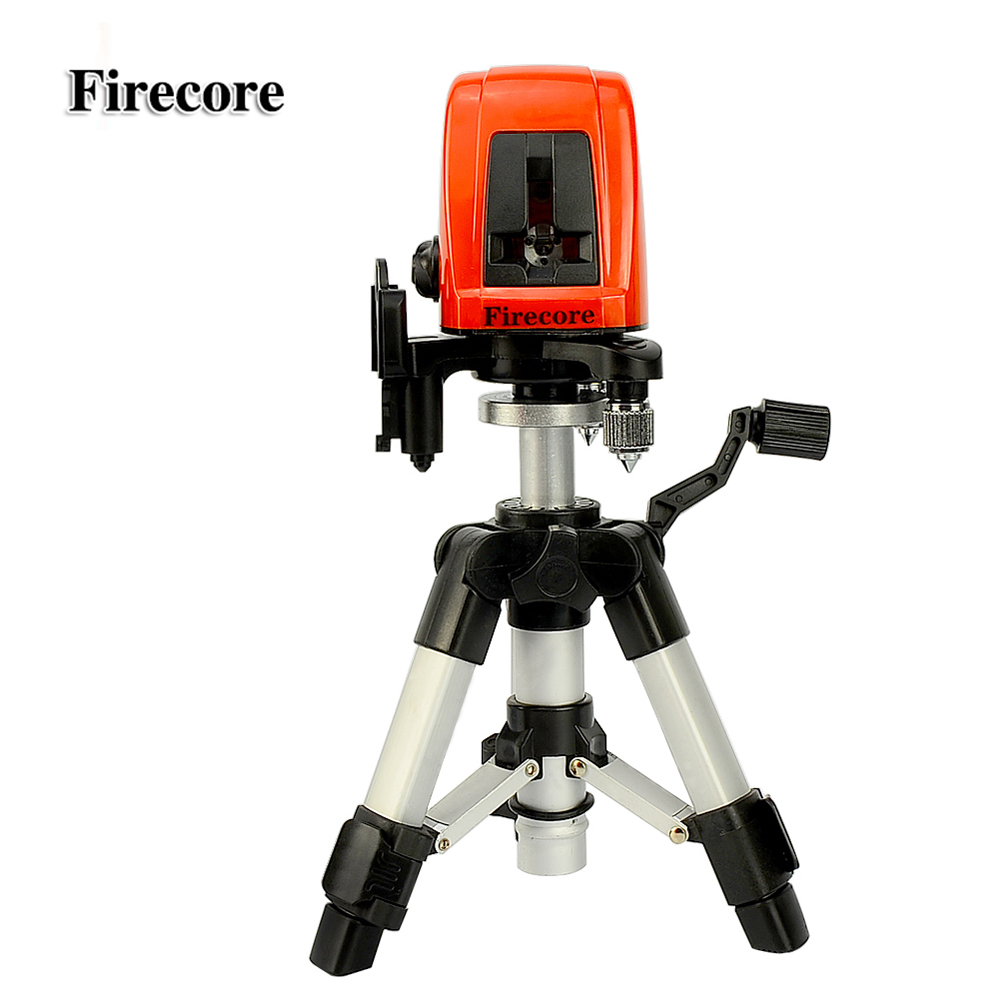 Firecore A8826D 2 Lines Laser Level 1V1H1D Cross Self-leveling Red Beam Laser +0.28M Tripod bbloop confirm outline self inking stamp rectangular laser engraved red