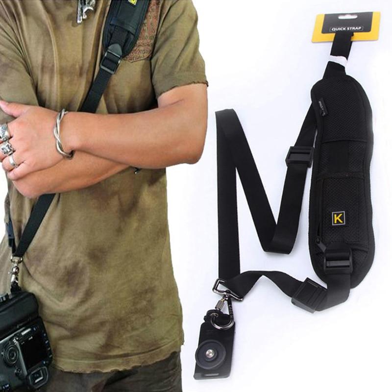 Camera strap Quick Rapid Camera Single Shoulder Sling Belt Strap For SLR DSLR Cameras