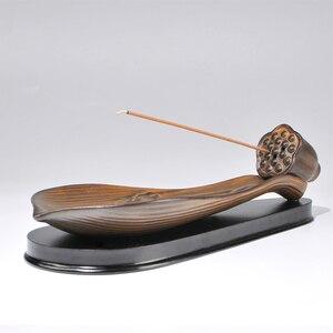 Joss vara de incenso de lótus incensário de cerâmica antigo agalloch eaglewood ta fumado incensário de caixa de incenso incenso joss st
