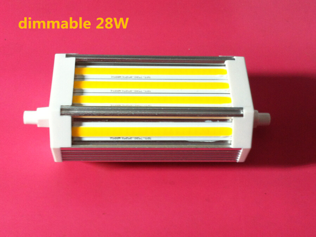 DHL Free shipping 15pcs/lot 118mm led dimmable  R7S light 28W COB led dimmable J118 R7S lamp No noise cooling Fan