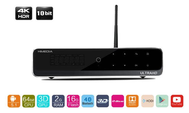 US $294 9 |Himedia Q10 Pro, Hot 4K Ultra Output Android TV Box Android Box,  Kodi 16 0 Google Android 7 1 Smart TV Box,Free/fast shipment-in Set-top