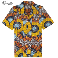 Candowlook African Clothing Store Wholesale Cotton Male Shirt Fashion Pattern Design Printed Traditional Blouse Mens Clothes