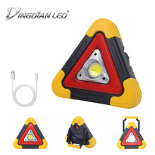 Triangle Warning Traffic Light DC5V 20W COB Solar Rechargeable LED Work Outdoor Portable Car Repair Mini Camping