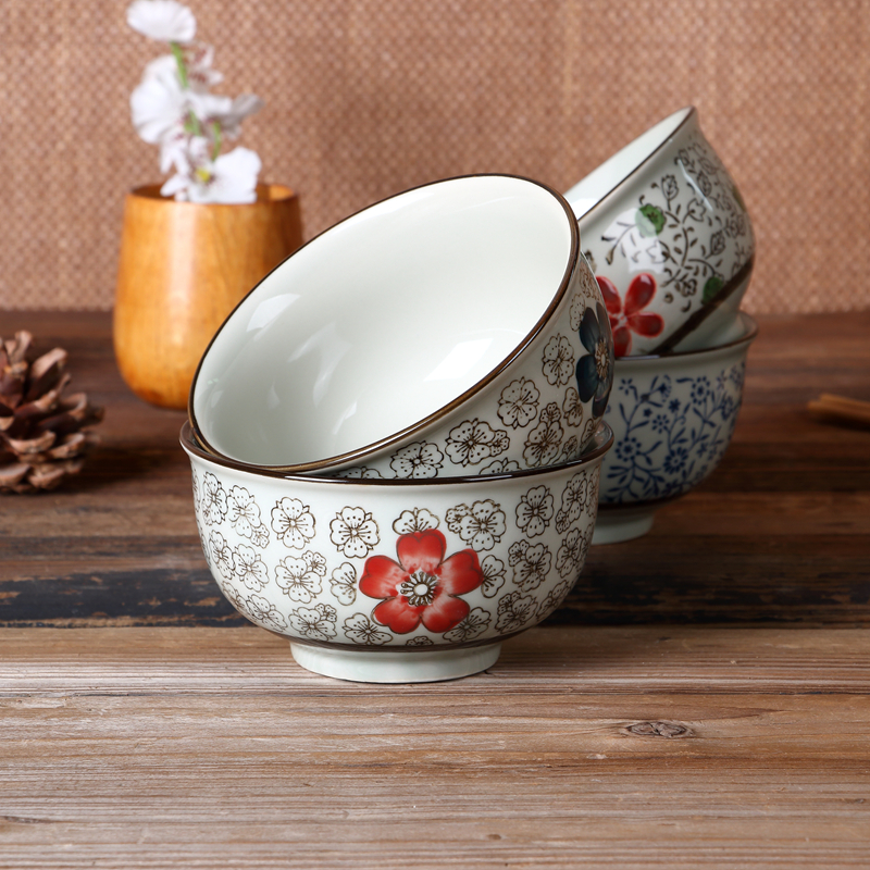 Food Container Ceramic Rice Bowl Soup Noodle Japanese Porcelain Tableware 2017 New Hot Dinnerware Kitchen Accessories Set