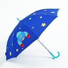 Umbrella Kids Long Handle Rain for 3D Animals Print Cute Children Boy Girl Sun Protection Childs Tools Pink Z524