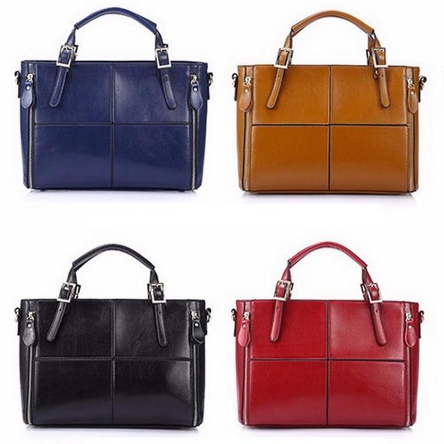 FUNMARDI Luxury Handbags Women Bags Designer Split Leather Bags Women Handbag Brand Top-handle Bags Female Shoulder Bags WLHB974 2