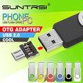 Venta caliente suntrsi usb otg unidad flash pendrive mini pluma del metal unidad de Memoria USB de Alta Velocidad OTG Adaptador para Teléfono Inteligente USB Flash