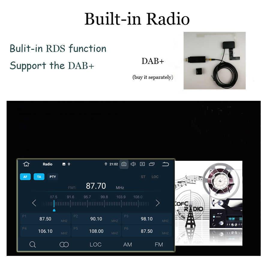 PX6 DSP アンドロイド 9.0 6 コア 4 ギガバイト + 32 ギガバイト 8 インチ Wifi GPS Map RDS ラジオ Bluetooth 4.0 車の DVD プレーヤーのためのポルシェカイエン 2003-2010