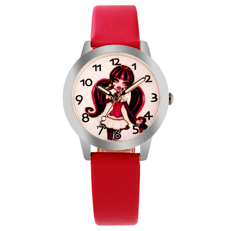 Hot Selling Children Cute Princess Dial Quartz Watch Snow White Girl Cartoon Birthday Party Gift For Kids Watch Luminous Hands