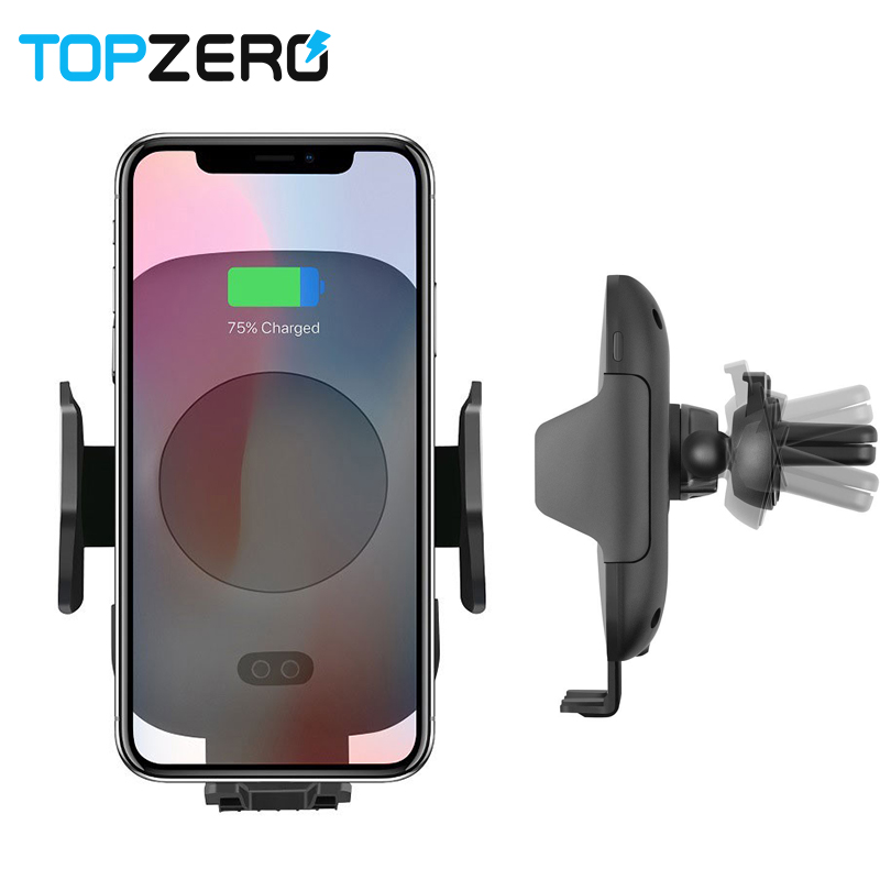 Fast Wireless Car Charger Holder Automatic Induction Car Mount Air Vent Phone Holder Cradle For iPhone 8/8 Plus iPhoneX Samsung