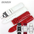 ISUNZUN Women Watch Band is Suitable For Tissot  T061.310/T061.510 Genuine Leather Watch Strap Brand Leather Strap Watchbands