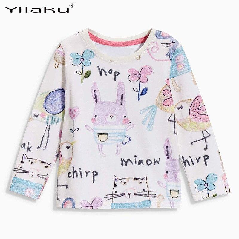 2017 Autumn Long Sleeve Cartoon T shirt For Girls Clothes