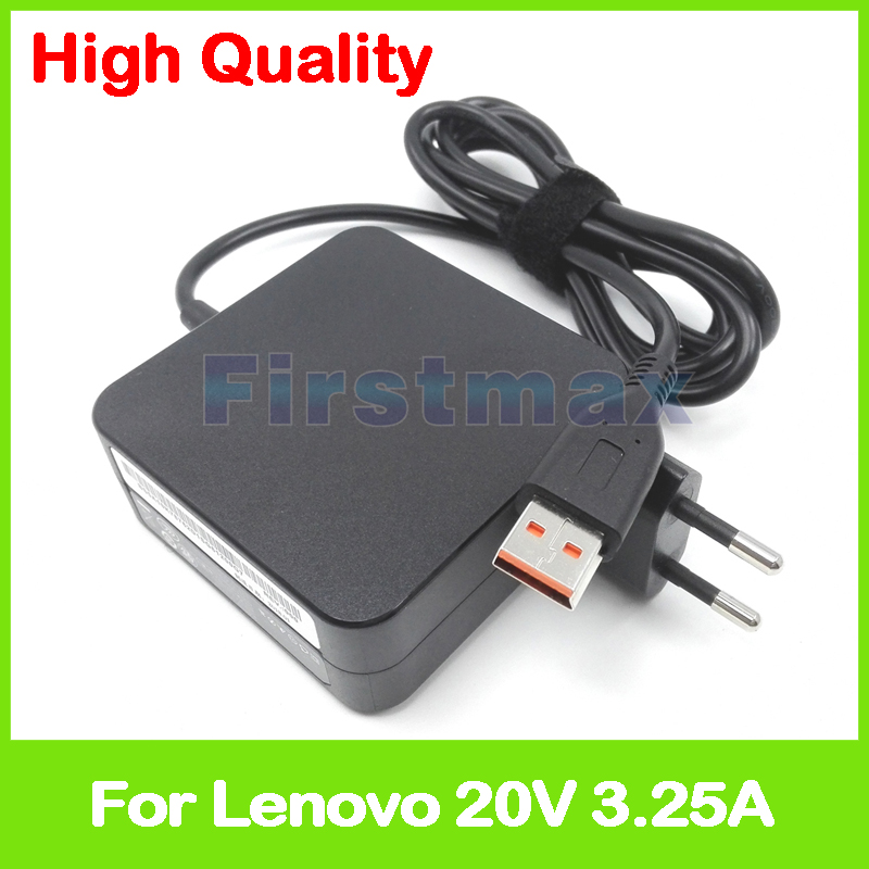 20V 3.25A 65W laptop power adapter charger ADL65WDJ 5A10G68675 ADL65WLB for Lenovo Yoga 3 Pro-1370 only for Core i7 EU Plug 20v 2a 5 2v 2a usb ac power adapter for lenovo yoga 3 pro 13 5y70 13 5y71 charger adl40wdd adl40wde adl40wdg adl40wdh eu plug