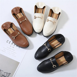 Shoes woman flat solid loafers soft leather pointed casual women flats slip-on autumn new zapatos de mujer