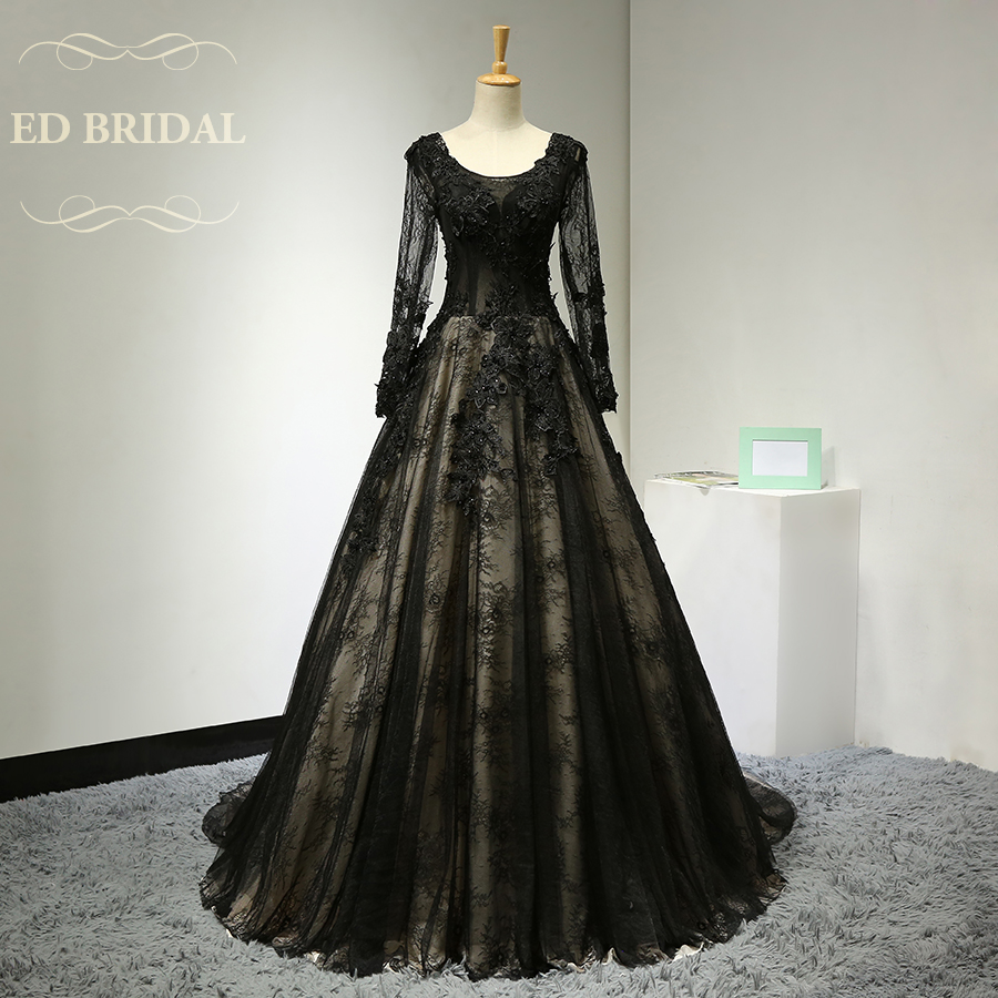 Long sleeves lace vintage evening dress with lace for Lace sleeve corset wedding dress
