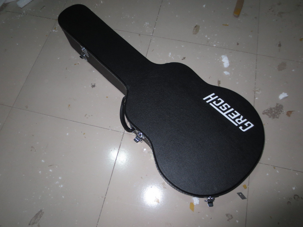 Guitar Hardcase In Black for Gretsch Falcon Electric Guitar *****( Must be with the guitar) Not Sold Separately guitar hard case in black for flying v shape electric guiatr not sold separately