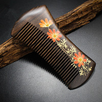 High Quality 1pcs 13cm Chacate Preto Handmade Comb Wood Hair Combs Makeup Head Massager Antistatic Wooden
