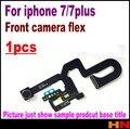1 unids para iphone 7 7 plus 4.7 5.5 de inducción sensor de luz de proximidad flex & pequeño frente asamblea de la cámara flex cable