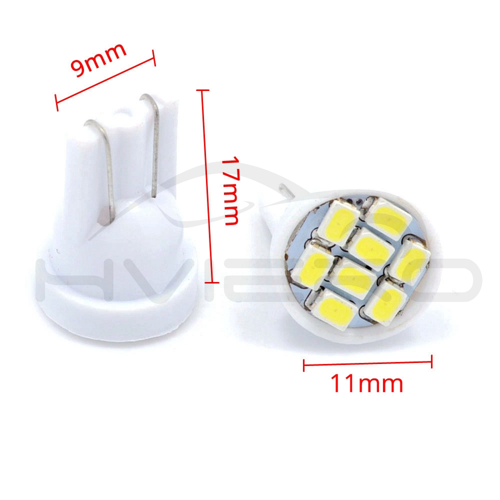 Image 2 - high quality Led 10X  8 smd 1206 8leds 8SMD Auto Interior Light 194 168 192 W5W 3020 Auto Wedge Lighting DC 12V Hot sale-in LED Bulbs & Tubes from Lights & Lighting