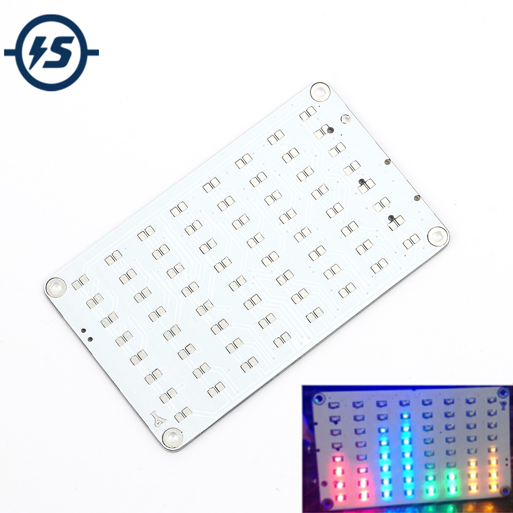 4 צבעים 8x8 5 v FFT אודיו אודיו מנתח מחוון קול בקרת מטריקס LED אדום/כחול /ירוק/צהוב אלקטרוני DIY ערכות