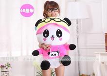 huge 60cm sitting pose happy panda plush toy , lovely Panda doll ,throw pillow , Christmas gift w8812