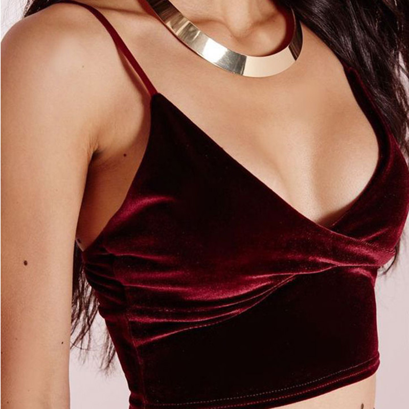 Sexy Women Velvet Camis Crop Tops Vintage Female Harajuku Sleeveless Shirt Casual Camisole Women Tanks Tops Fitness For Lady