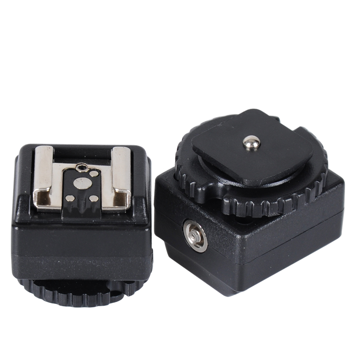 Nicefoto C-N2 Flash Hot Shoe PC Sync Socket Convert Adapter for Canon to Nikon,Speedlite flash Accessory Hot Shoe Adapter