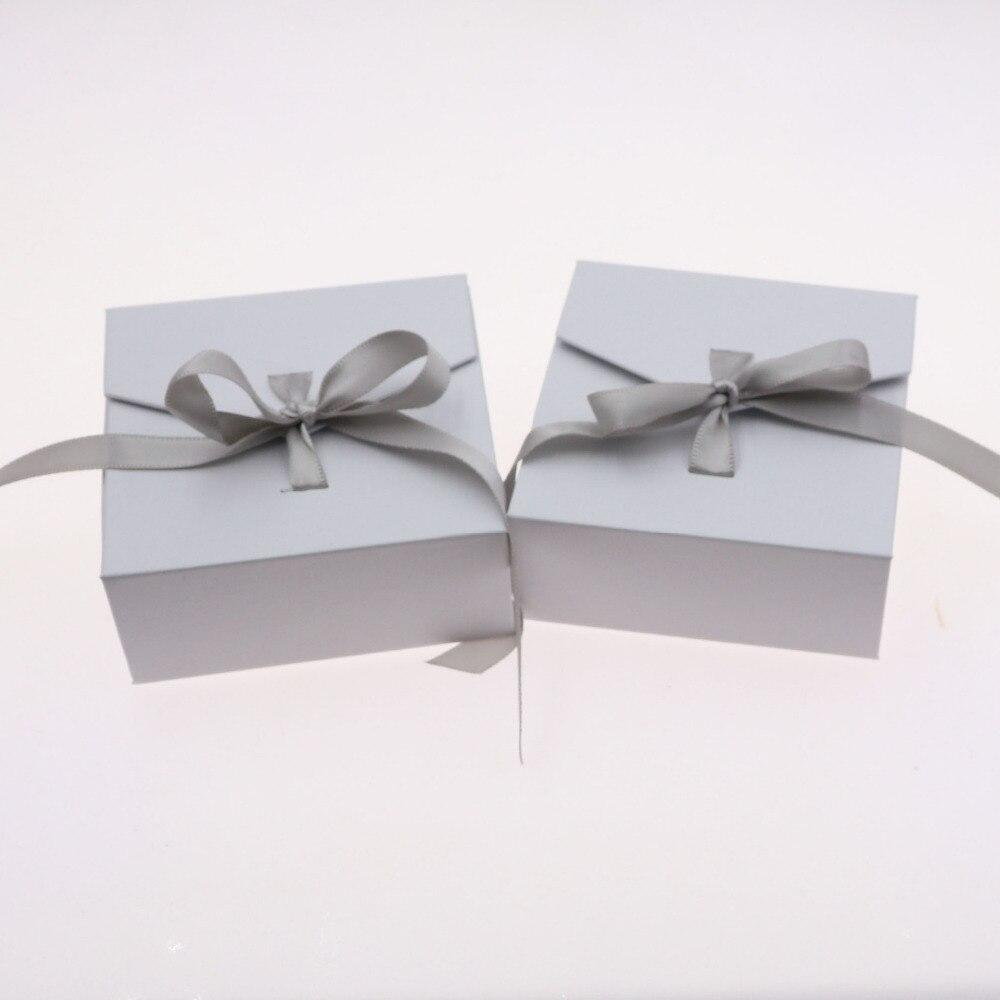 1 Stück Heller Glanz Schnelle Lieferung Doreenbeads Schmuckschatullen Papier Multicolor Band Bowknot Für Geschenk Halskette Ohrring Set Verpackung Display 8*8,3*3,5 Cm Schmuck-verpackung & Präsentation