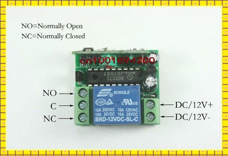 12 В 1CH авто дверь/замок беспроводной пульт дистанционного управления беспроводной переключатель/приемник и передатчик контроллер 315/433 МГц 50 единиц/лот