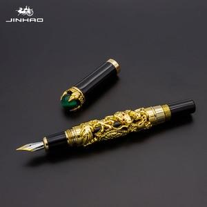 Image 2 - Jinhao Dragon Fountain Pen High Quality Pluma Stylo Plume Caneta Tinteiro Pluma FuenteTitanium Dolma Kalem Tips Collection Gifts