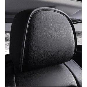 Image 3 - (Anteriore + Posteriore) speciale seggiolino auto Pelle copre Per Toyota Corolla Camry Rav4 Auris Prius Yalis Avensis SUV accessori auto auto